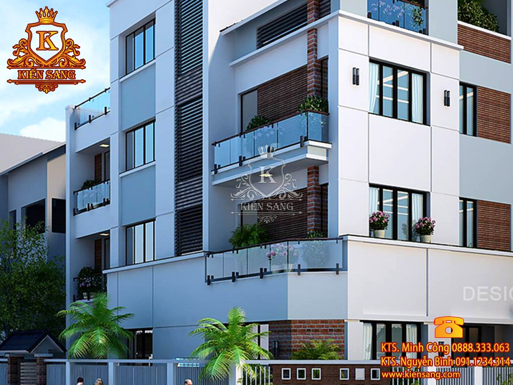 Biệt thự 3 tầng hiện đại 2 mặt tiền