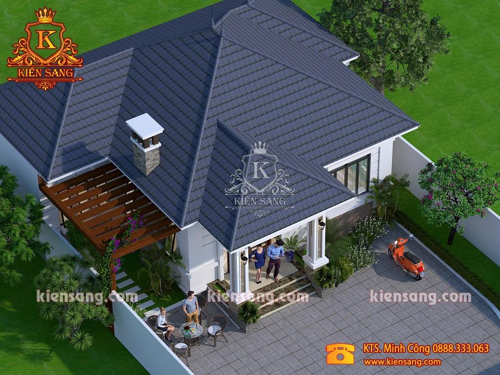 Biệt thự hiện đại 1 tầng tại Hưng Yên