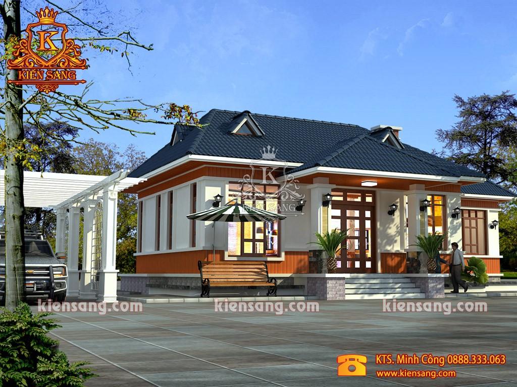 Biệt thự hiện đại 1 tầng tại Bắc Ninh giá 1 tỷ