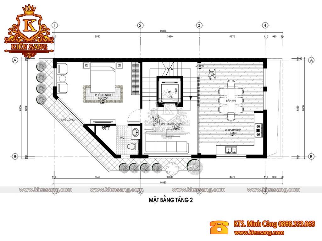 Biệt thự 6 tầng hiện đại 88m2