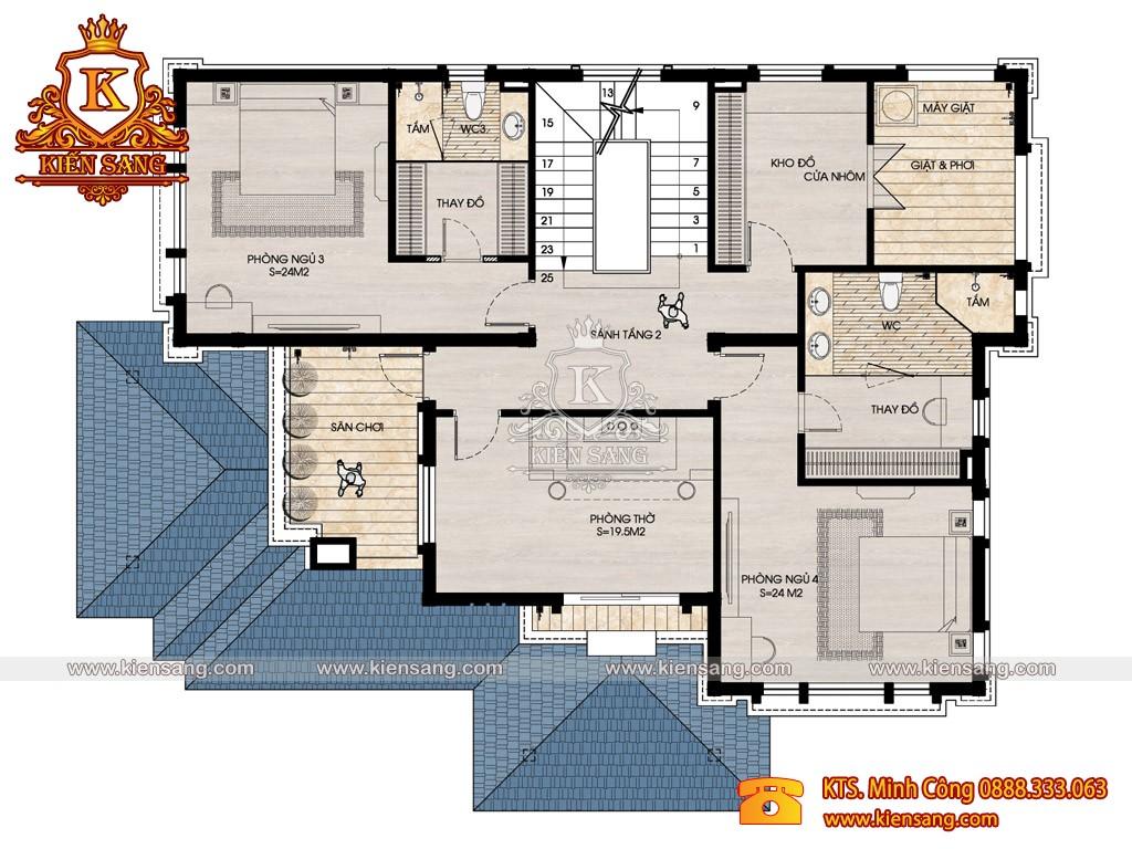 Biệt thự 2 tầng hiện đại 170m2