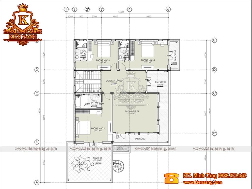 Mẫu biệt thự 2 tầng mái nhật hiện đại tại Vĩnh Phúc