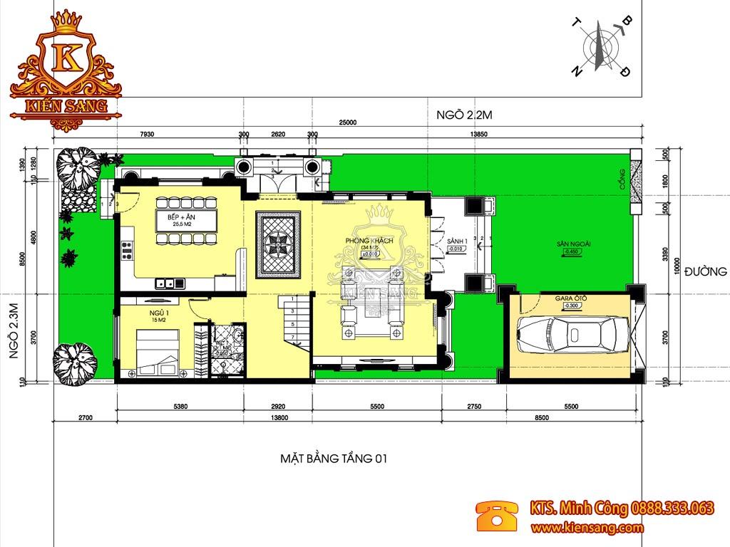 Mẫu thiết kế biệt thự 2 tầng đẹp 2018
