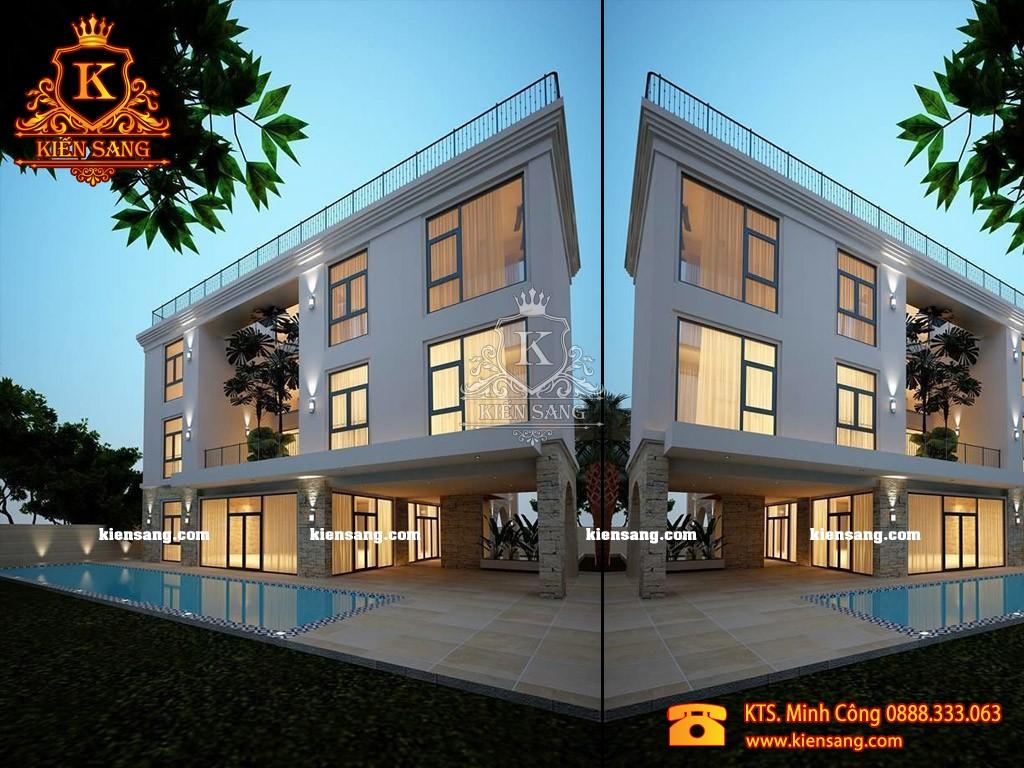 Biệt thự 3 tầng hiện đại tại Hoàn Kiếm