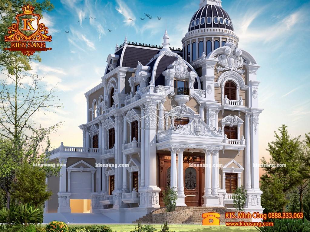 Biệt thự 3 tầng cổ điển tại Long Biên