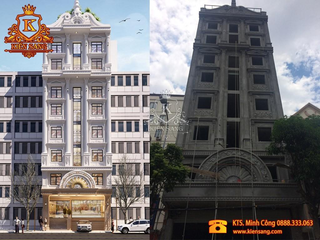 Thiết kế và thi công khách sạn 8 tầng sang trọng đẳng cấp