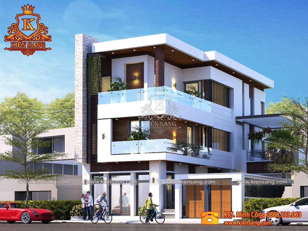 Mẫu biệt thự 3 tầng hiện đại đẹp tại Lào Cai