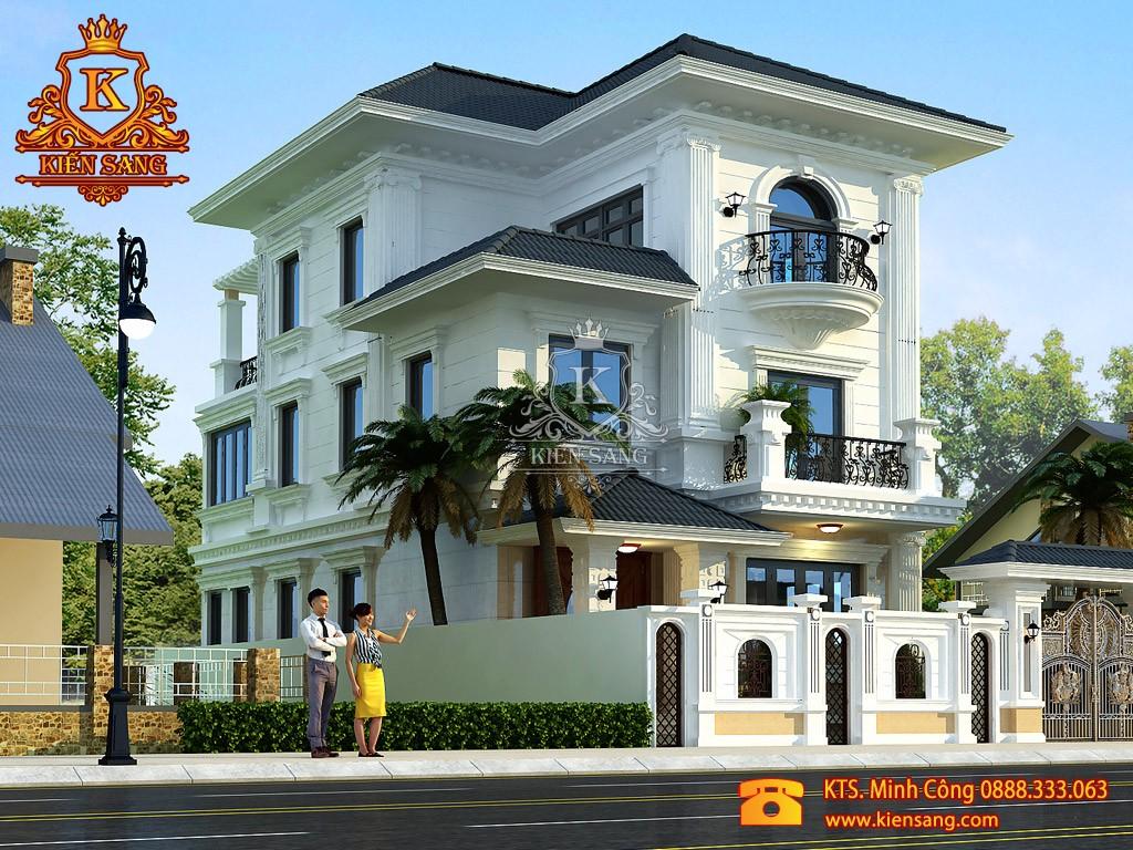 Thiết kế biệt thự tân cổ điển tại Quảng Bình