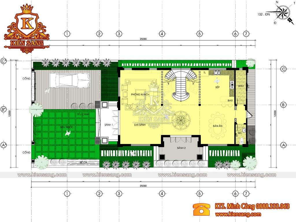Biệt thự tân cổ điển 3 tầng 130m2