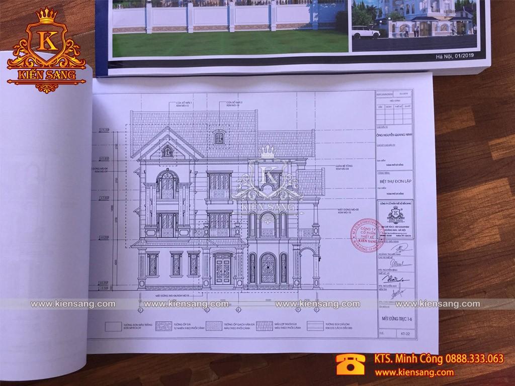 Biệt thự tân cổ điển 3 tầng 160m2
