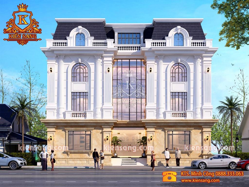 Mẫu biệt thự song lập 3 tầng cổ điển kiểu Pháp