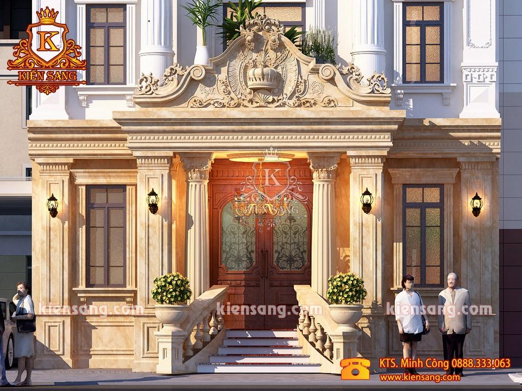 Mẫu nhà biệt thự cổ điển 3 tầng kiểu Pháp