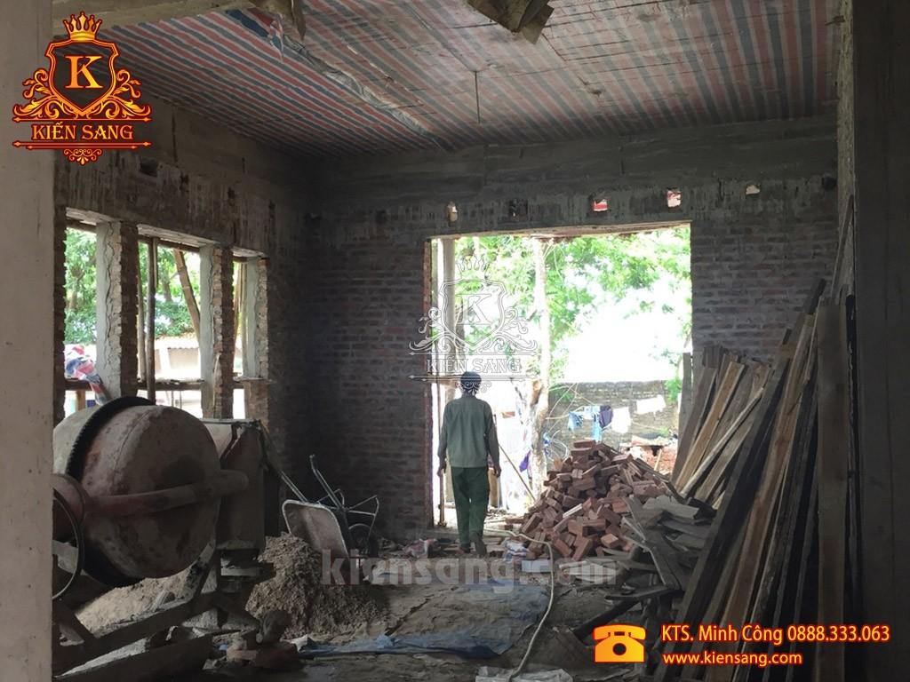 Kiến Sang thi công xây nhà trọn gói 3 tầng tại Hải Dương