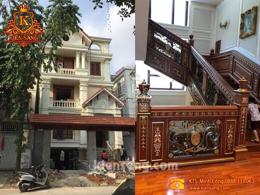 Xây nhà trọn gói biệt thự 3 tầng tại Thái Nguyên