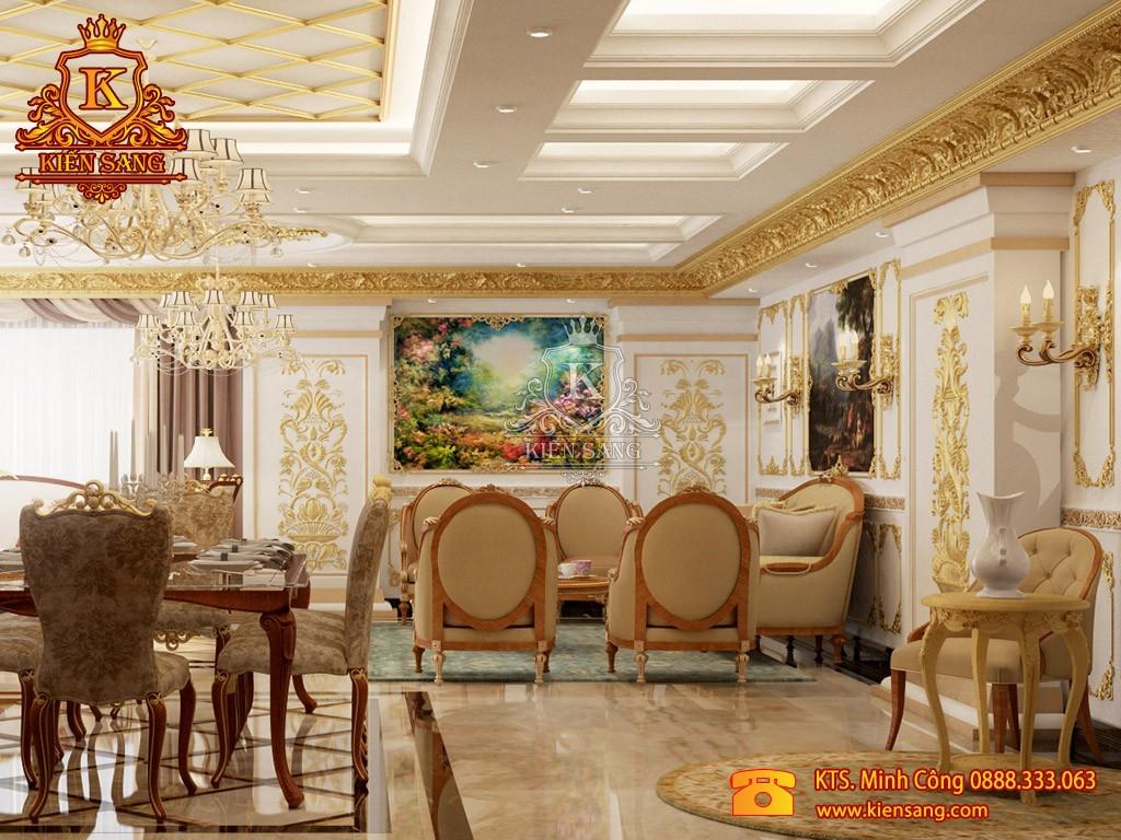 Nội thất biệt thự tân cổ điển tại Sơn Tây