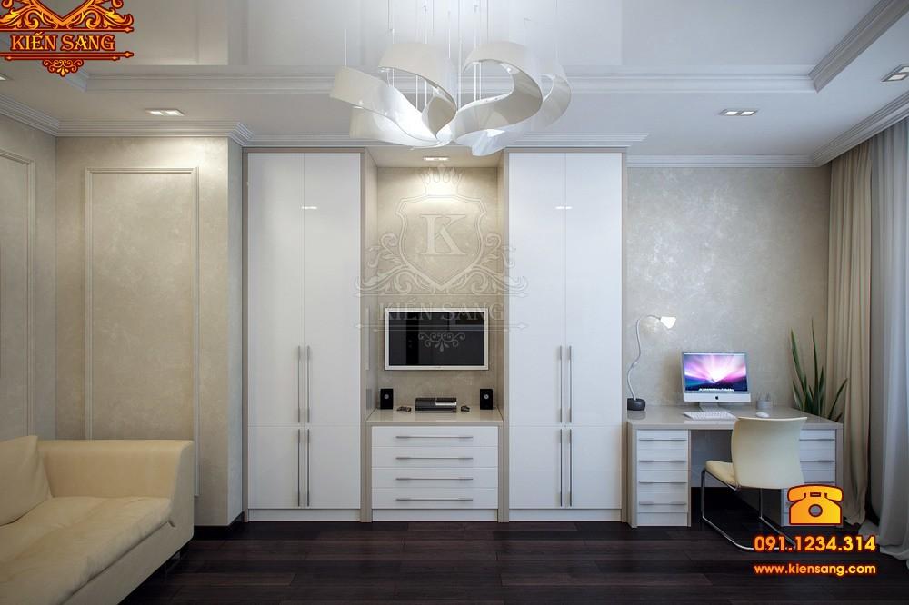 Nội thất chung cư tân cổ điển tại Hoàng Mai