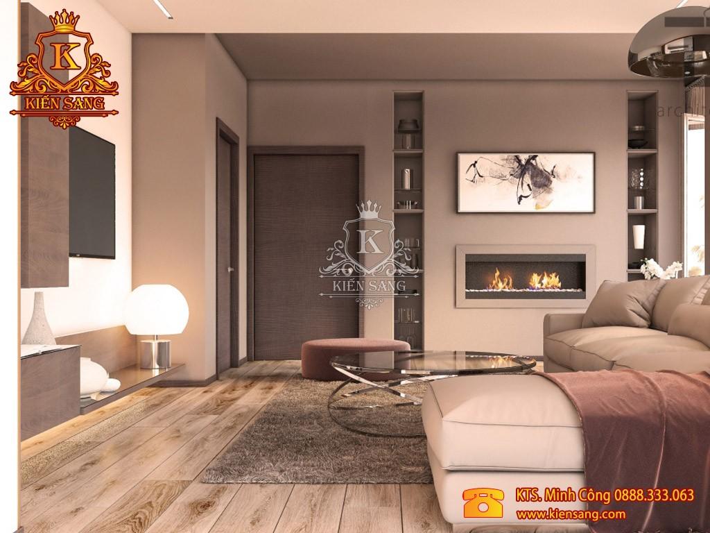 Nội thất chung cư hiện đại tại Hoàng Mai