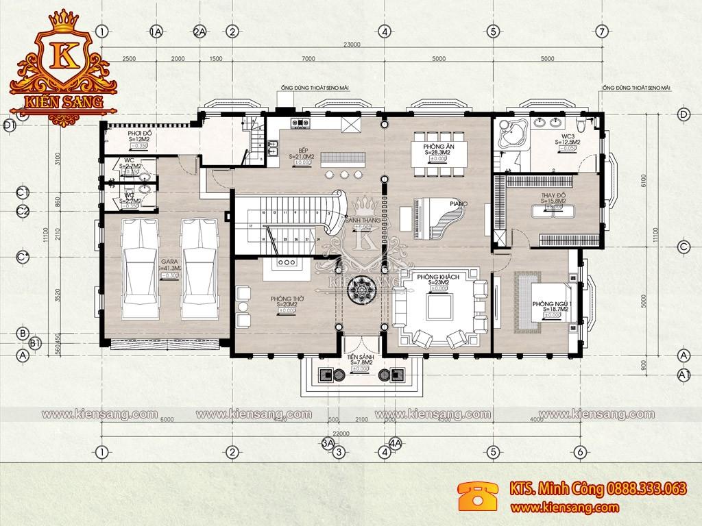 Biệt thự 2 tầng tân cổ điển tại Vũng Tàu